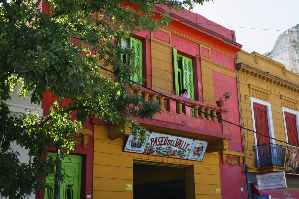 Colorful houses in an art colony, La Boca, Buenos Aires, Argentina : Stock Photo