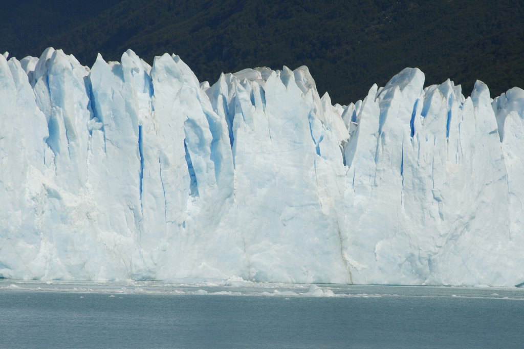 Glacier floating on water, Moreno Glacier, Argentine Glaciers National Park, Patagonia, Argentina : Stock Photo