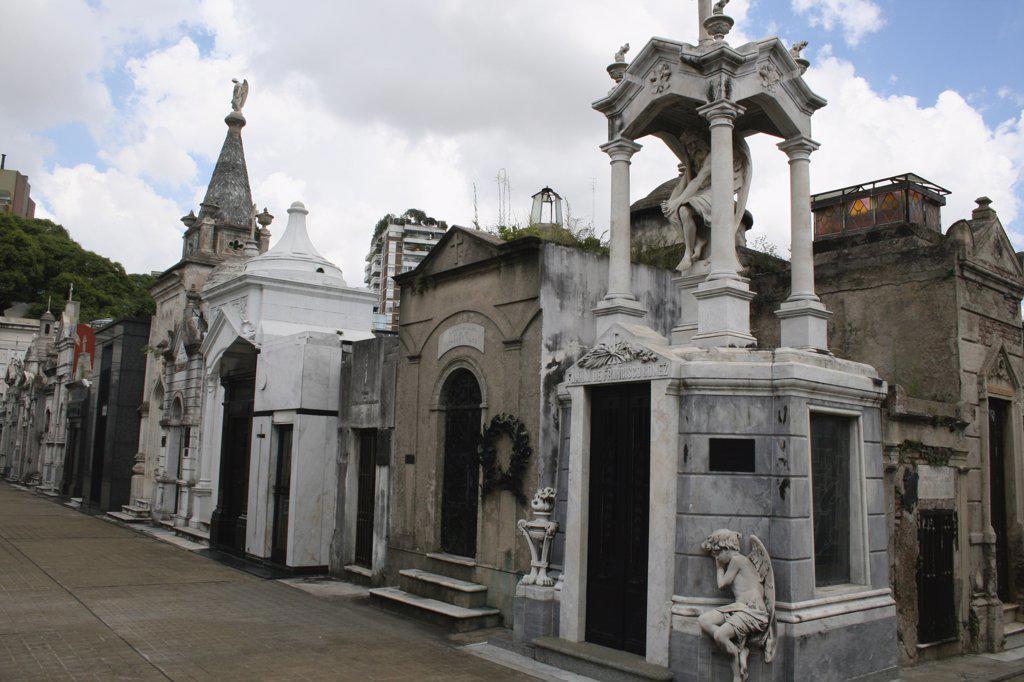 Cemetery, Recoleta Cemetery, Buenos Aires, Argentina : Stock Photo