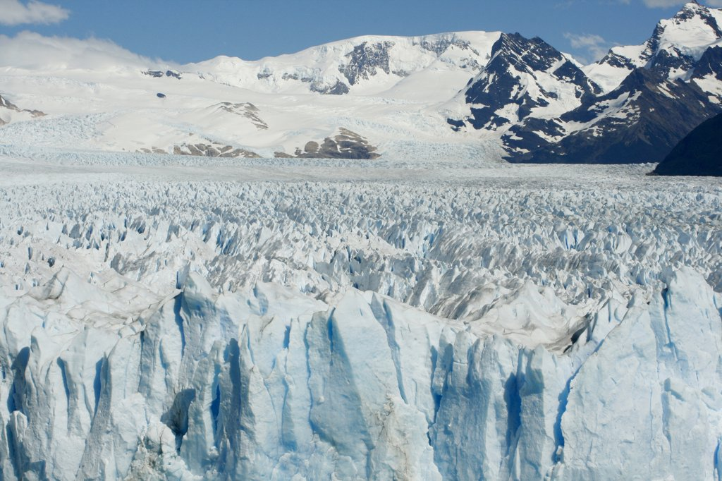 Panoramic view of a glacier, Argentina : Stock Photo