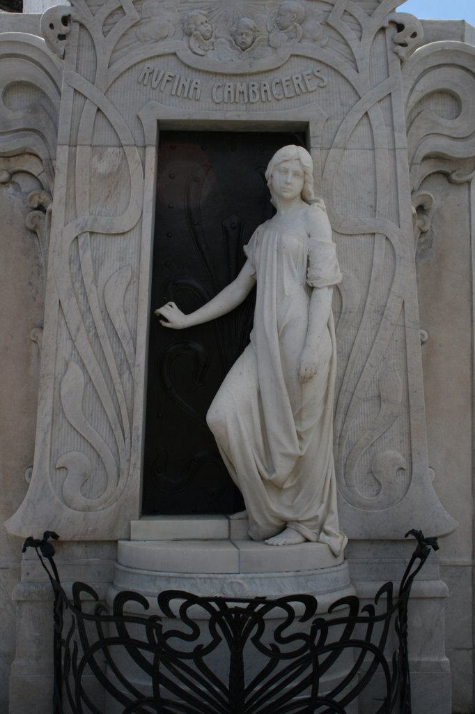 Stock Photo: 1818-330 Statue in a cemetery, Recoleta Cemetery, Buenos Aires, Argentina