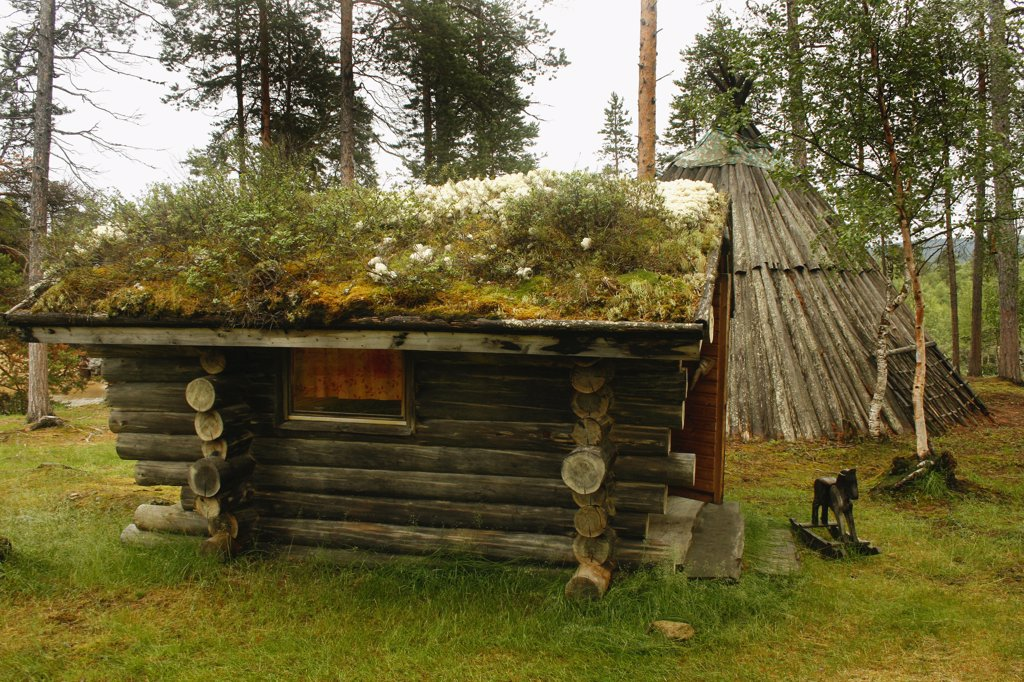 Stock Photo: 1818-382 Playhouse in a park, Lapland, Norway