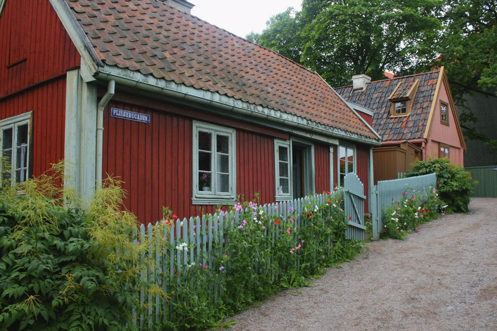Houses in the Folk Museum, Oslo, Norway : Stock Photo