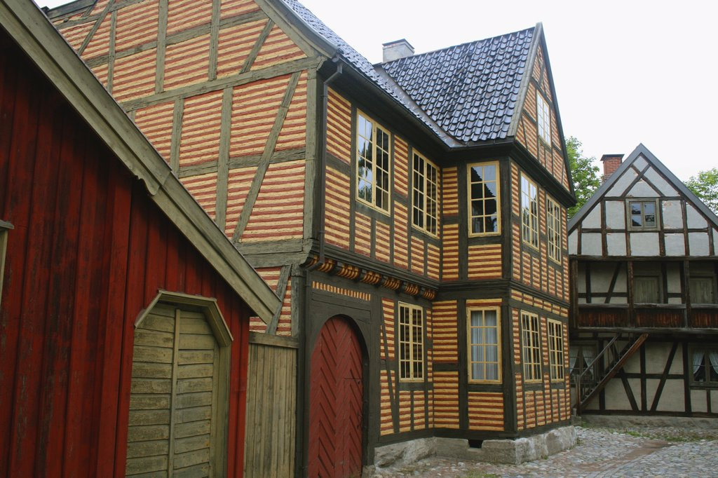 Stock Photo: 1818-387 Houses in the Folk Museum, Oslo, Norway