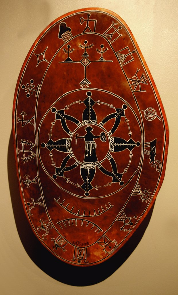 Stock Photo: 1818-390 Close-up of a traditional drum, Lapland, Norway