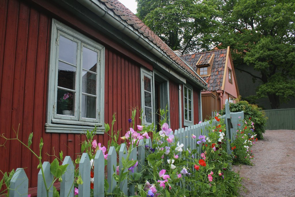 Stock Photo: 1818-399 Houses in the Folk Museum, Oslo, Norway