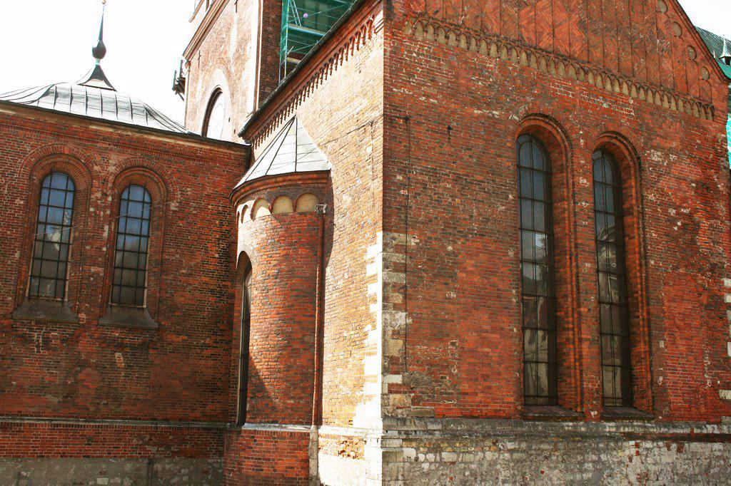 Latvia, Riga, 17th century brickwork : Stock Photo