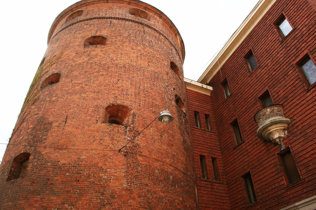 "Stock Photo: 1818R-403 Latvia, Riga, ""Powder Tower,"" old city wall"