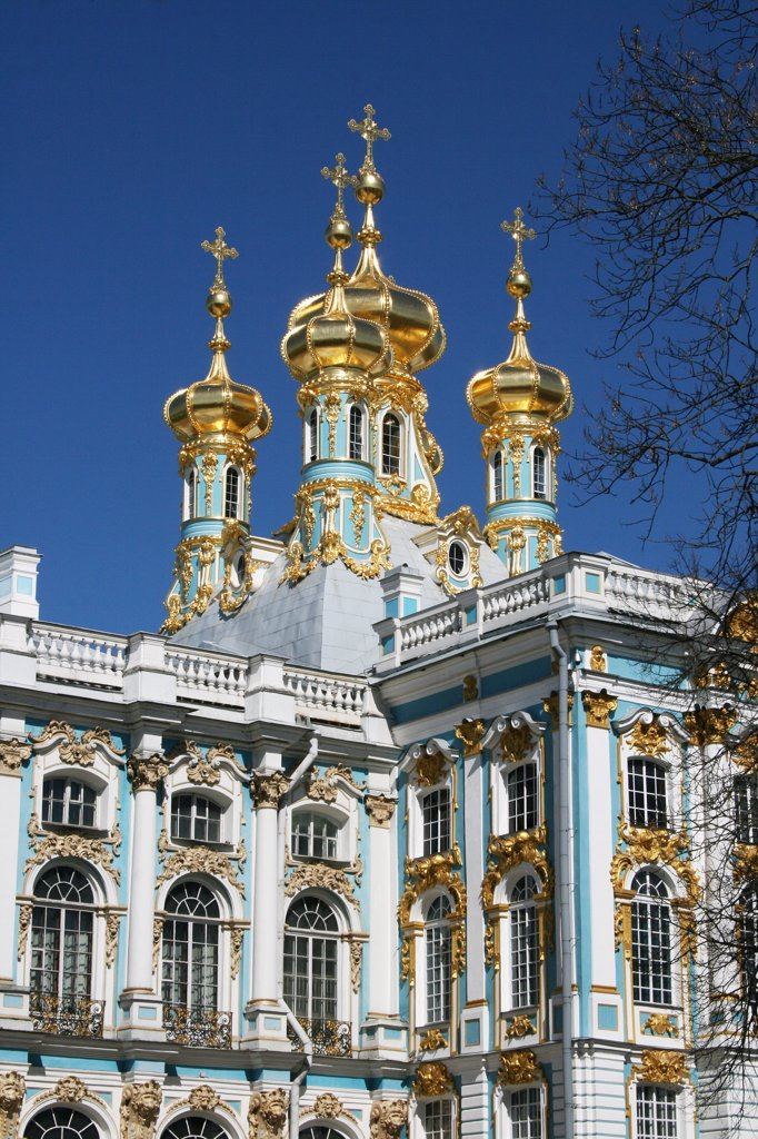 Stock Photo: 1818R-404 Russia, St. Petersburg, Imperial Palace at Tsarskoe Selo