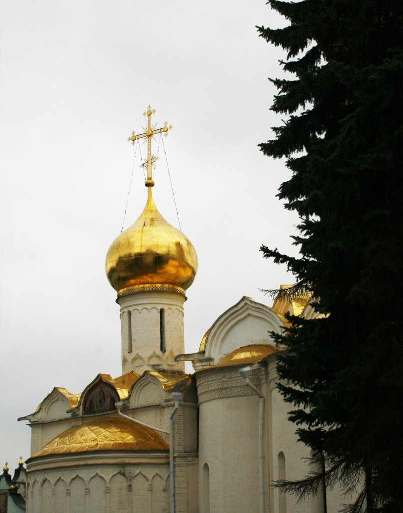 Stock Photo: 1818R-409 Russia, Moscow, Trinity Cathedral, Trinity monastery of St. Sergius