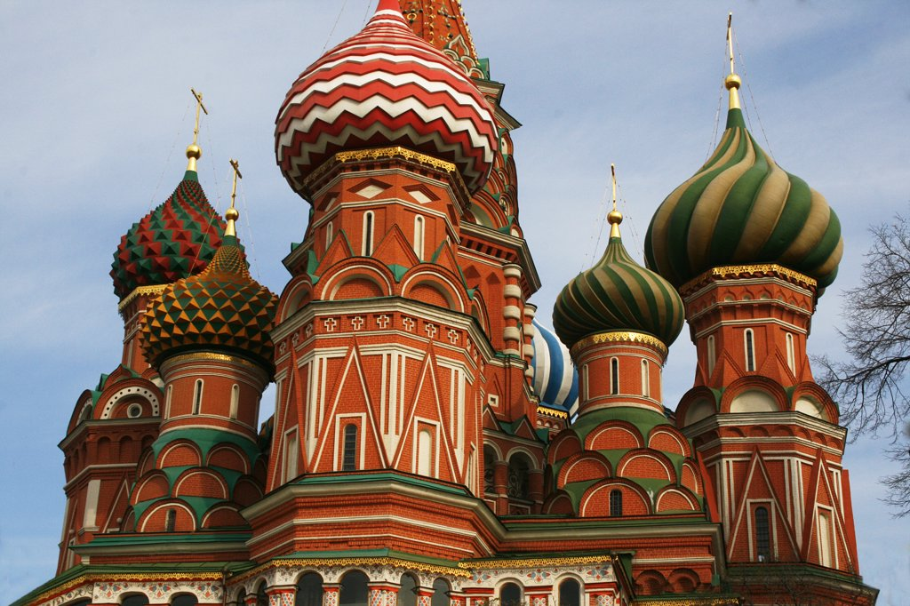 Russia, Moscow, St. Basil's cathedral in Red Square : Stock Photo
