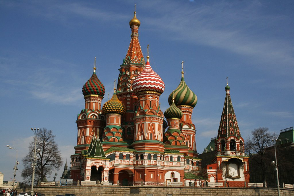 Stock Photo: 1818R-412 Russia, Moscow, St. Basil's cathedral in Red Square
