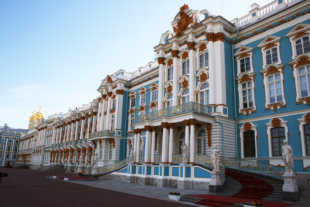 Stock Photo: 1818R-413 Russia, The Imperial Palace at Tsarskoe Selo