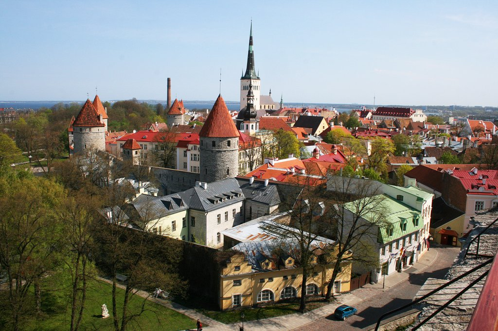 Estonia, Talin, Cityscape : Stock Photo