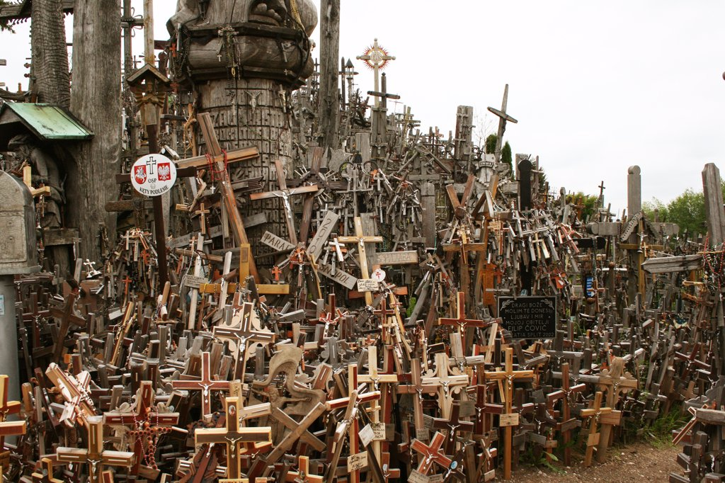 Lithuania, Hill of Crosses : Stock Photo
