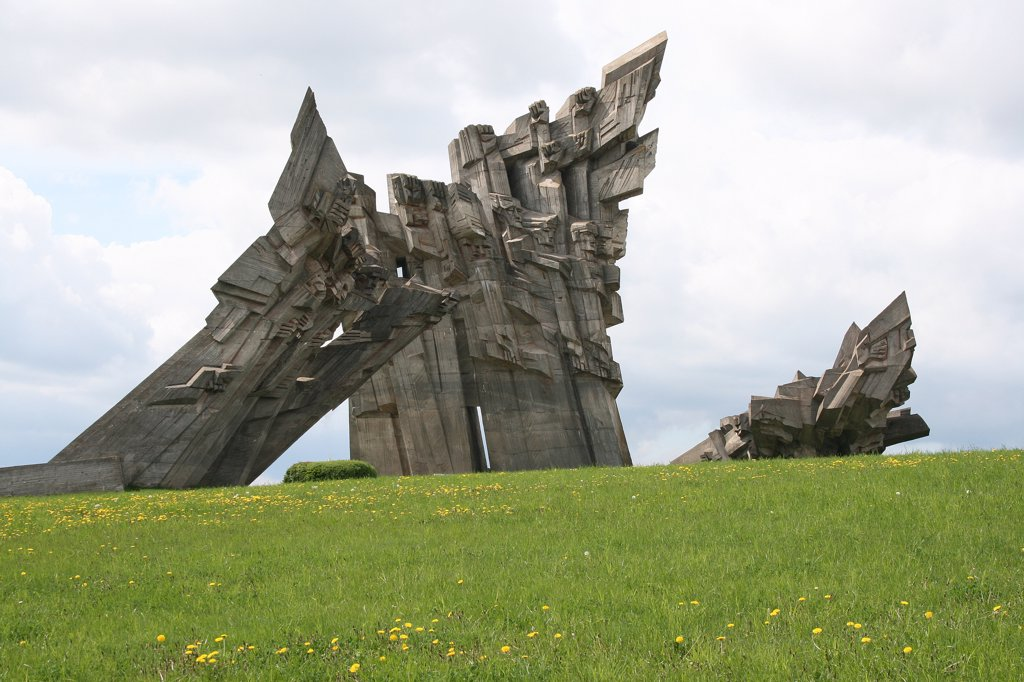 Lithuania, Kaunas, Concentration camp memorial : Stock Photo