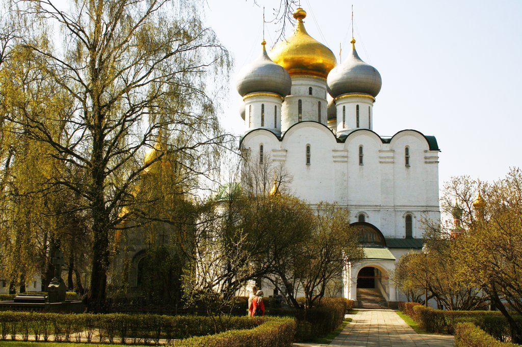 Stock Photo: 1818R-425 Russia, Moscow, Novodevichiy Convent, Cathedral of Virgin of Smolensk