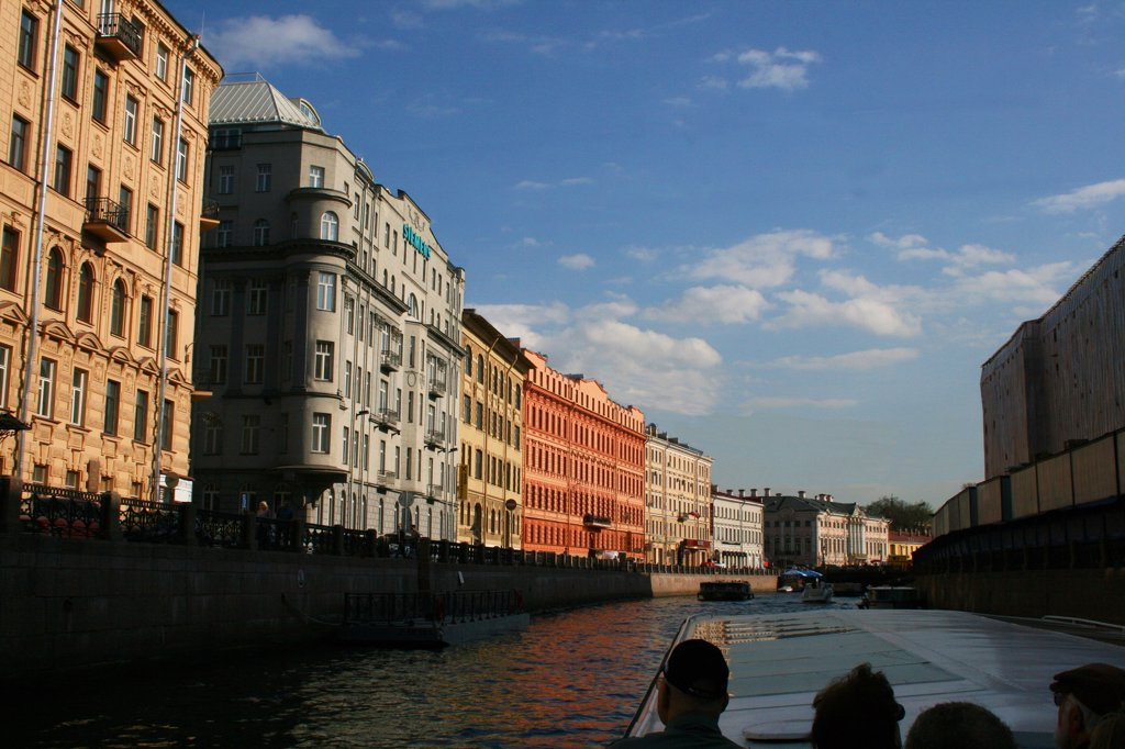 Stock Photo: 1818R-428 Russia, St. Petersburg, Canal boat tour