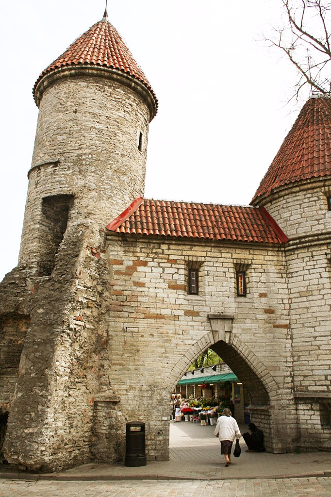 Stock Photo: 1818R-441 Estonia, Tallinn, Viru town gate, part of old town walls