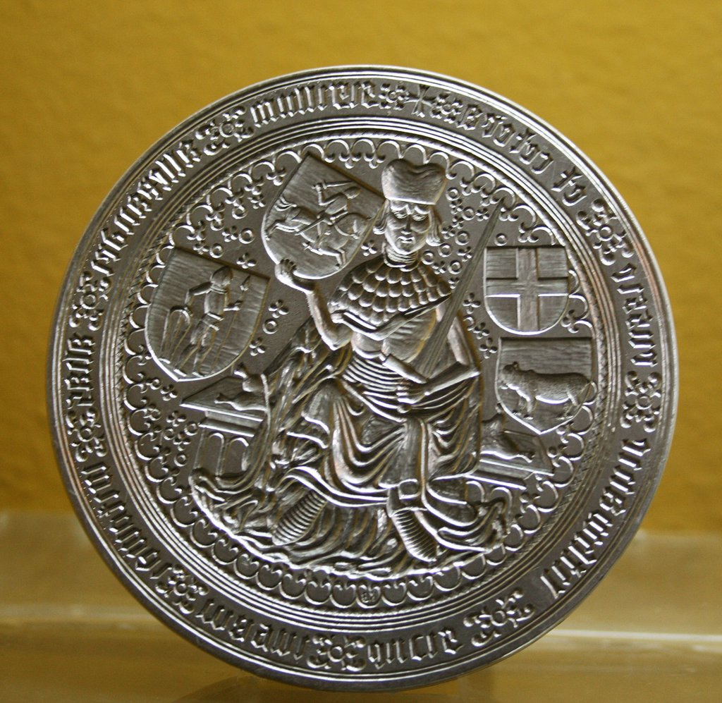Lithuania, Trakai, Trakai Castle, Duke's seal, in museum : Stock Photo