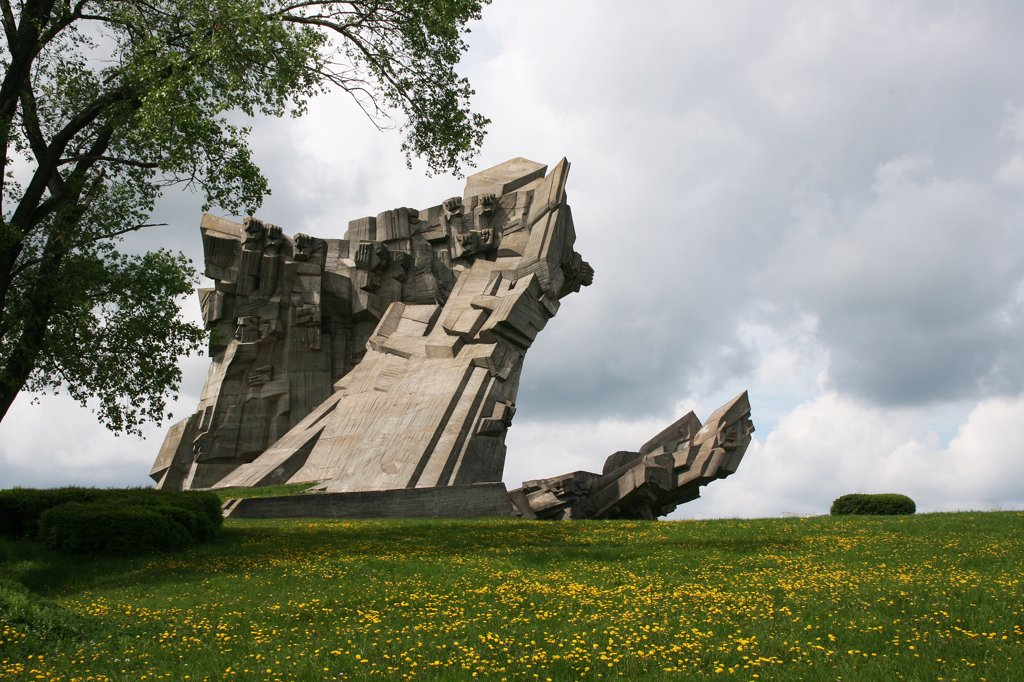 Stock Photo: 1818R-457 Lithuania, Kaunas, Concentration camp memorial