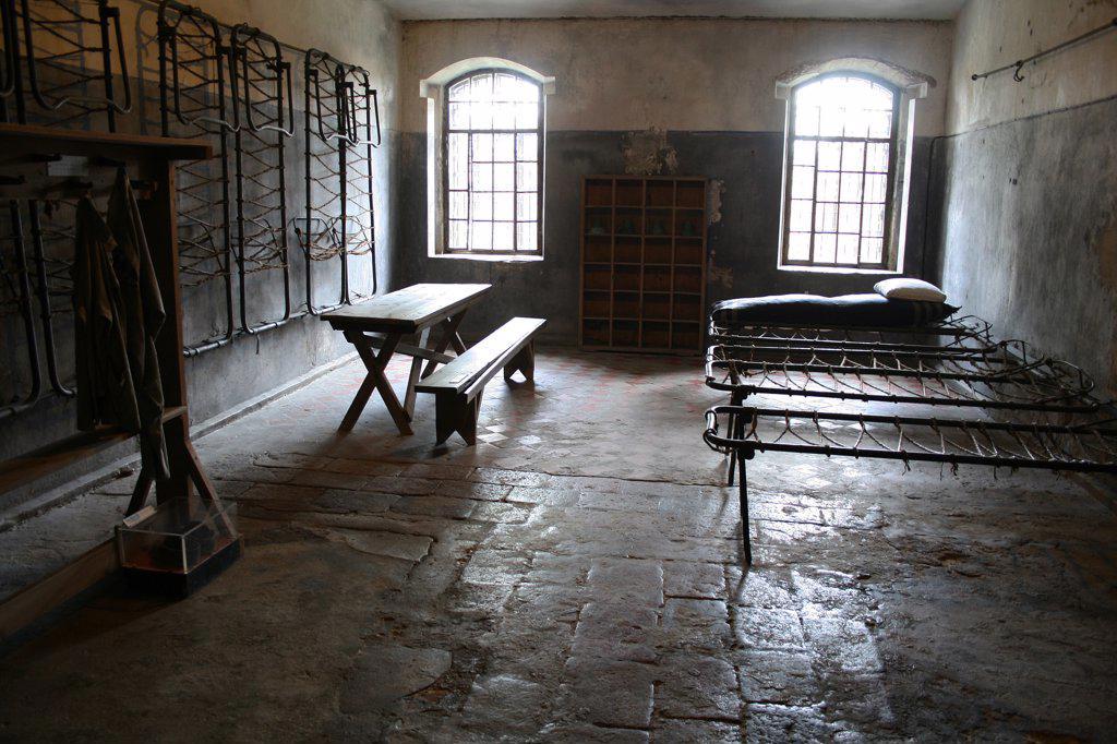 Stock Photo: 1818R-461 Lithuania, Kaunas, Concentration camp, dormitory