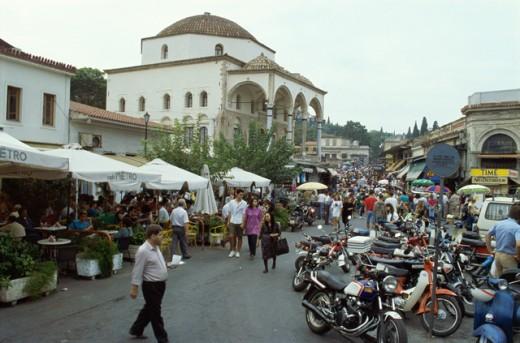 Plaka Athens Greece : Stock Photo