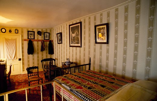 Stock Photo: 182-3148A USA, Washington DC, Petersen House, Interior of house where Abraham Lincoln died
