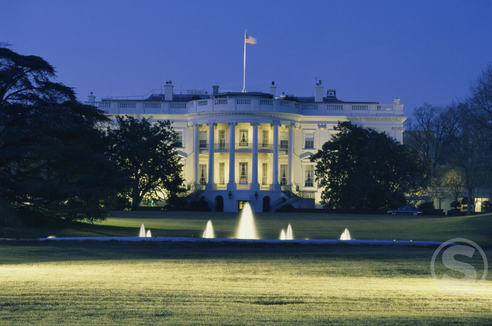 Stock Photo: 182-543A The White House