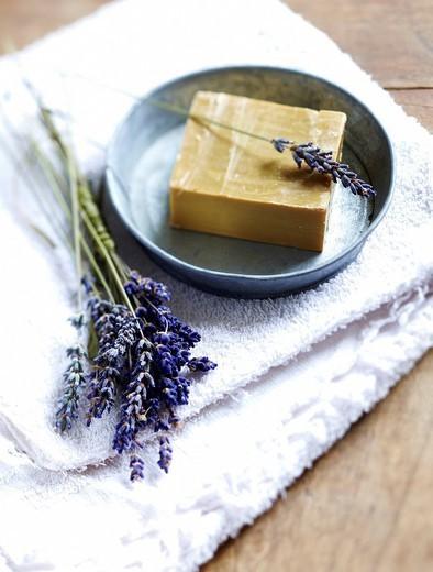 lavender soap : Stock Photo