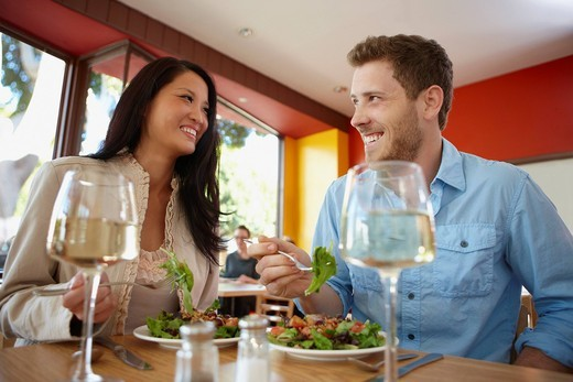 Couple dining in restaurant : Stock Photo