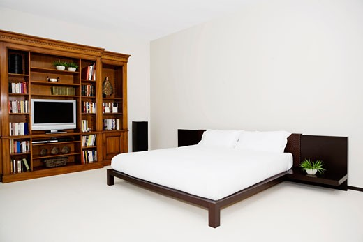 Stock Photo: 1825-1566 Interiors of a bedroom
