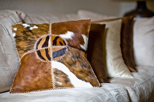 Stock Photo: 1825-1616 Cushions on a couch