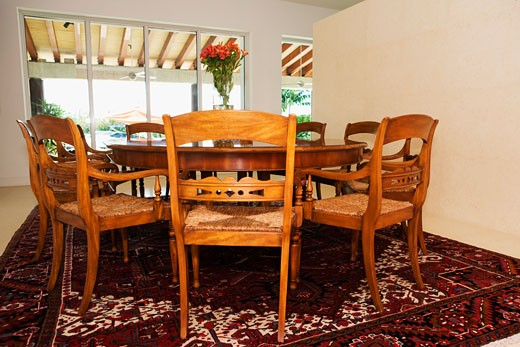 Stock Photo: 1825-1784 Interiors of a dining room