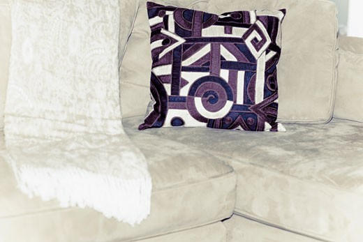 Cushion on a couch : Stock Photo