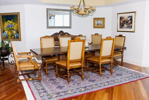 Stock Photo: 1825-2041 Interiors of a dining room