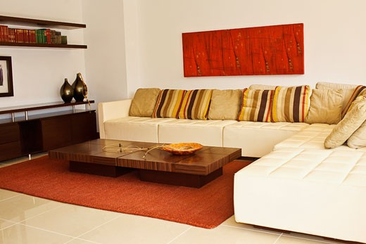 Stock Photo: 1825-2154 Interiors of a living room