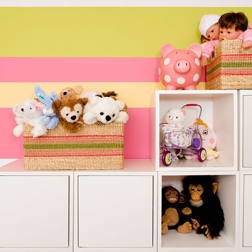 Toys in a kid room : Stock Photo