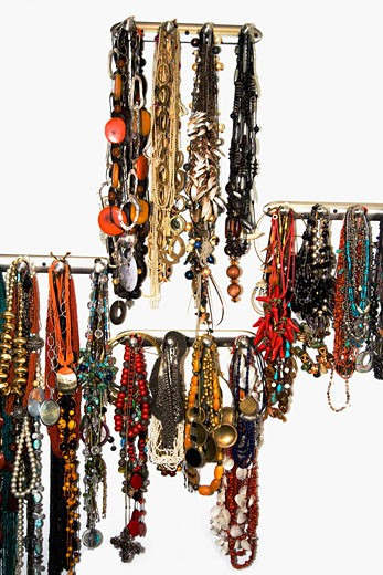 Close-up of necklaces : Stock Photo