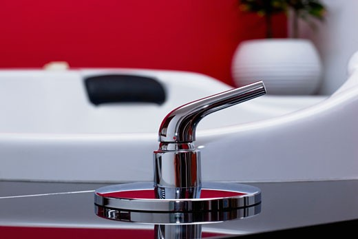 Stock Photo: 1825-2677 Faucet in the bathroom