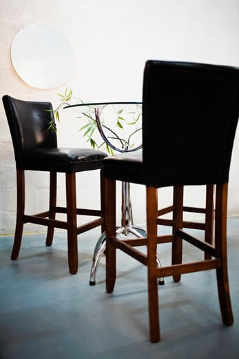 Chairs in a dining room : Stock Photo