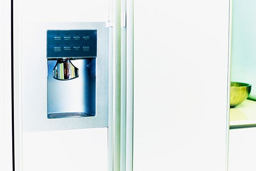 Stock Photo: 1825-2864 Water dispenser of a refrigerator