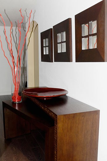 Showpieces on a sideboard : Stock Photo
