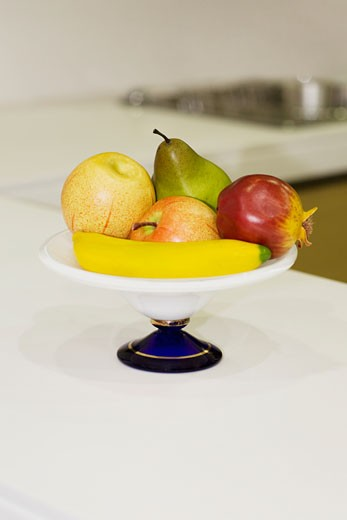 Fruits in a bowl : Stock Photo