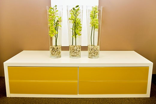 Vases on a chest : Stock Photo