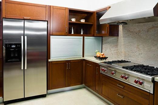 Interiors of the kitchen : Stock Photo