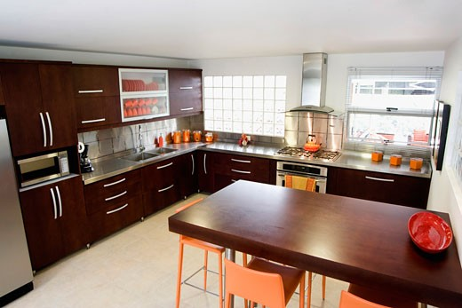 Stock Photo: 1825-3387 Interiors of a kitchen