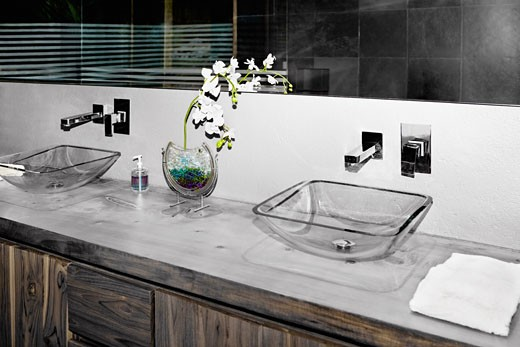 Stock Photo: 1825-3779 Interiors of a bathroom