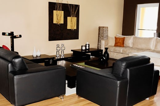 Stock Photo: 1825-4075 Interiors of a living room
