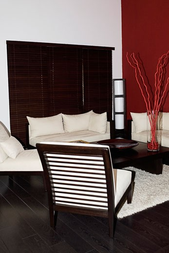 Stock Photo: 1825-4082 Interiors of a living room